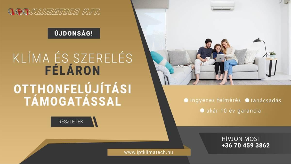 klímaszerelés Győr otthonfelújítási támogatás